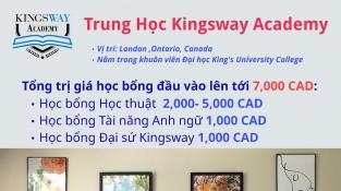 Học bổng tới 17,000 CAD từ trường THPT Kingsway Academy, Canada