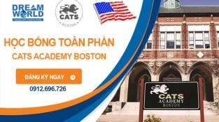 Học bổng Phổ thông Mỹ từ CATS Academy Boston, Mỹ năm 2022