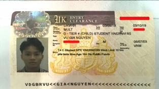 Chúc mừng Vũ Gia Nguyên đậu Visa du học Anh cùng suất học bổng 80% học phí