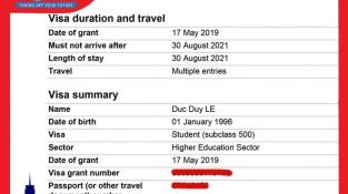 Dream World chúc mừng Lê Đức Duy đạt Visa Úc cùng học bổng cao tại Deakin University